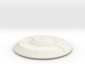 Flying Saucer in White Natural Versatile Plastic