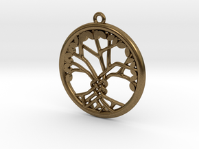Tree Of Life Pendant in Natural Bronze: Medium