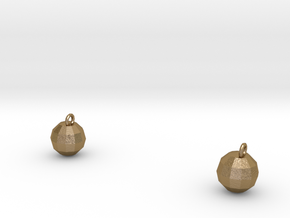 Xmas Ball Earrings gold in Polished Gold Steel