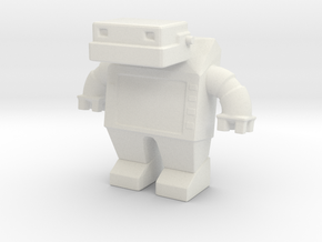 Robot 0030 Jaw Bot Diesel v1 in White Natural Versatile Plastic