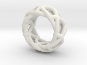 Spirograph Ring in White Natural Versatile Plastic