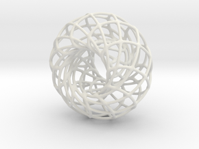 Spirograph Tire in White Natural Versatile Plastic