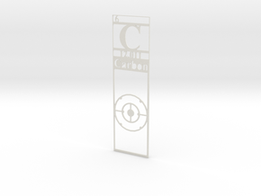 Elemental Bookmark - Carbon customization in White Natural Versatile Plastic