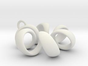 pendant spiral 1 in White Natural Versatile Plastic