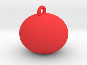 tiny xmas ball in Red Processed Versatile Plastic