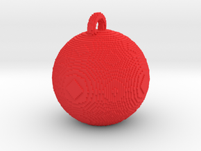 minecraft xmas bauble in Red Processed Versatile Plastic