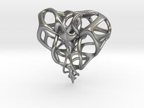Heart for Love in Natural Silver