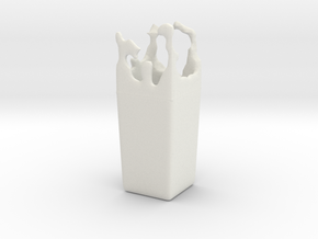 Splash Vase in White Natural Versatile Plastic