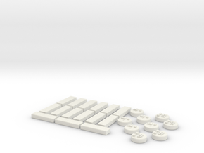 Immigrants of Bob Game Pieces - Green in White Natural Versatile Plastic