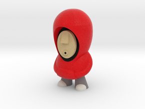 7cm Red Hoodie in Full Color Sandstone
