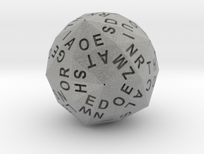 d120 Alphabet Dice in Metallic Plastic