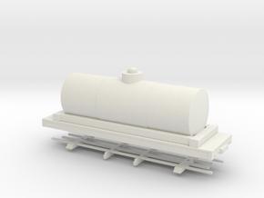 HOn30 26ft tank car 6' diameter  in White Strong & Flexible