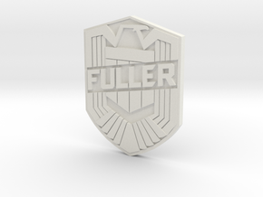 Fuller Badge in White Natural Versatile Plastic