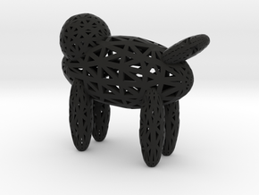 Dog in Black Natural Versatile Plastic