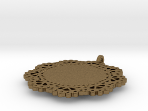 Design for pendant/earring - SK0030A in Natural Bronze