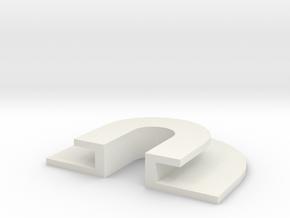 Rubber U in White Natural Versatile Plastic