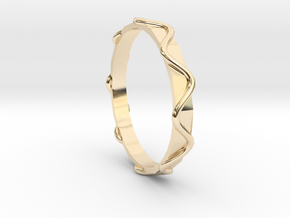 Waves Ring - Sz.8 in 14K Yellow Gold