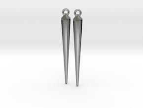 spike earrings in Natural Silver