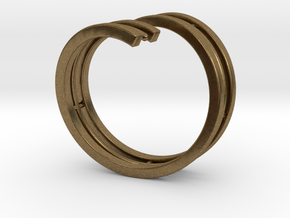 Bars & Wire Ring Size 7½ in Natural Bronze