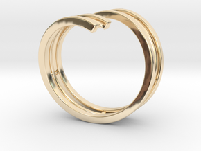 Bars & Wire Ring Size 7½ in 14K Yellow Gold