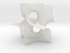 Batwing cubelet in White Natural Versatile Plastic