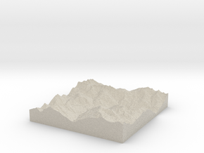 Model of Sankt Anton am Arlberg in Natural Sandstone