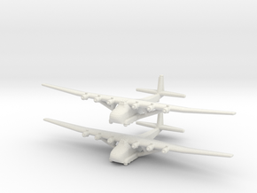 Me-323 (X2) Global War Scale in White Natural Versatile Plastic