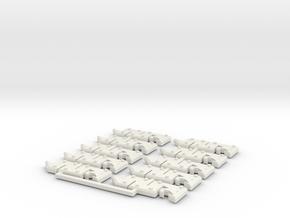 Snakebites glyphs in White Natural Versatile Plastic
