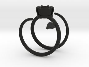 Rose ring 2 in Black Strong & Flexible