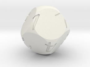 Alt D8 Sphere Dice in White Natural Versatile Plastic