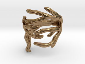 Antler Ring Size 7.5 in Natural Brass