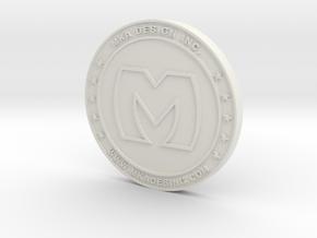 coin in White Natural Versatile Plastic
