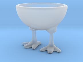 Feet Egg Cup in Smooth Fine Detail Plastic