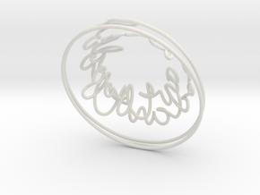 Swirl (32) in White Natural Versatile Plastic