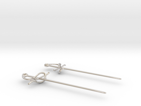Rapier Earrings (17th c. Sword) in Platinum