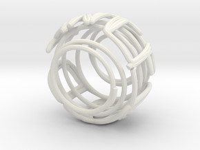 Swirl (31) in White Natural Versatile Plastic