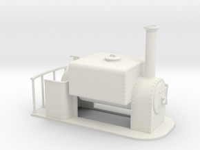 Gn15 Square saddle tank loco  in White Strong & Flexible