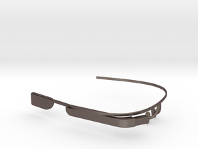 Google Glass Replica Fake MK3 - LIMITED EDITION -  in Polished Bronzed Silver Steel
