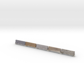 Jersey Barriers HO Scale in Full Color Sandstone