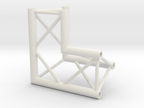 Truss DT33 corner miniature in White Natural Versatile Plastic