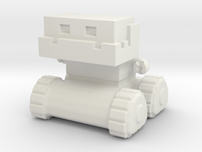 Robot 0052 Jaw Bot Tread Robot v1 in White Natural Versatile Plastic