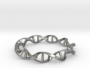 DNA Moebius Bracelet (Small) in Natural Silver