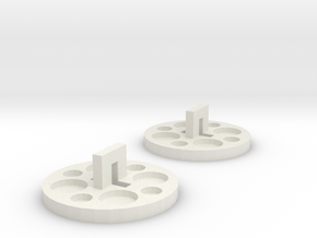 120 To 116 Film Spool Adapters, Set of 2 in White Natural Versatile Plastic