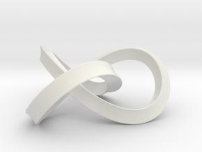 umbilic trefoil 2 in White Natural Versatile Plastic