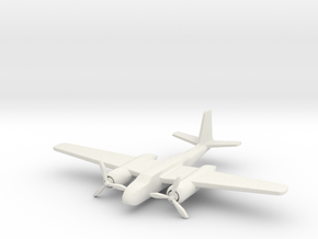 1/285 (6mm) A-26 Invader in White Natural Versatile Plastic