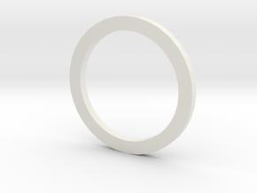 Nylon spacer for Gilles Variobar in White Natural Versatile Plastic