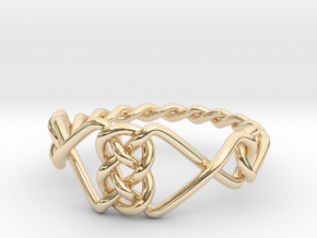 Celtic Ring - Size 8 1/4 in 14K Yellow Gold