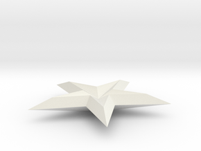 FINAL SHAPEWAYS 3D STAR in White Natural Versatile Plastic