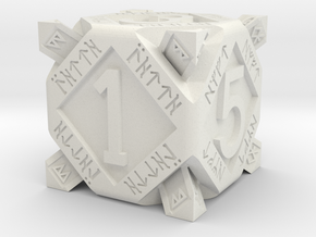Dwarf dice in White Natural Versatile Plastic