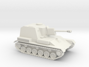SU-76 1/87 scale Soviet SPG in White Natural Versatile Plastic
